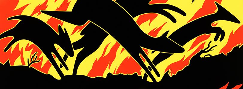 Animals Running Through Fire