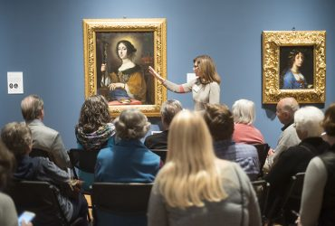 Visitors enjoy a guided Reflections tour to Carlo Dolci: The Medici's Painter exhibition. Photo by J Caldwell.