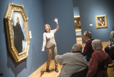 Visitors enjoy an animated Reflections tour to Carlo Dolci: The Medici's Painter exhibition. Photo by J Caldwell.