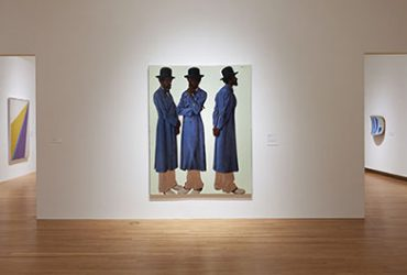 This installation view of Disorderly Conduct features, at center, a painting by Barkley L. Hendricks, entitled Bahsir (Robert Gowens), 1975. Photo by Peter Paul Geoffrion.