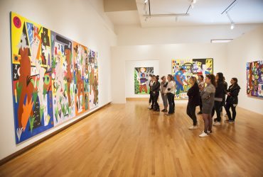 Visitors peruse the galleries with a Nasher Gallery Guide each week during Free Highlights Tours, which take place every Thursday at 6 p.m. and last about one hour.