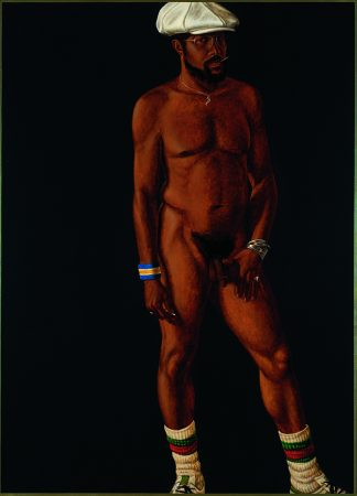 Barkley L. Hendricks, Brilliantly Endowed (Self Portrait), 1977. Oil and acrylic on linen, 66 by 48 inches.