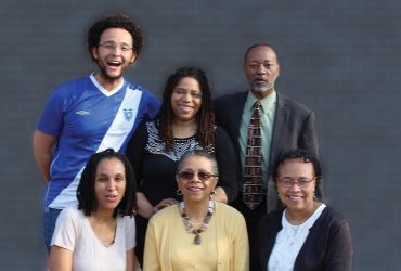 IMAGE: Members of the Carolina African American Writers' Collective, including L. Teresa Church, Ph.D, whose work has appeared in Simply Haiku and The Heron's Nest, among many other publications; Lenard D. Moore, who received the Haiku Museum of Tokyo Award (1983, 1994 and 2003) and the North Carolina Award for Literature (2014); Crystal Simone Smith, author and adjunct assistant professor of English at Elon University and Greensboro College, managing editor of Backbone Press; Sheila Smith McKoy, Ph.D, author and professor of English at Kennesaw State University; Gideon Young, whose poetry has appeared in Modern Haiku and Obsidian, among many other publications. Photo by Sherri Young.
