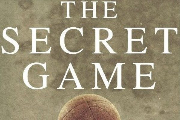 Photo of author Scott Ellsworth and cover of The Secret Game