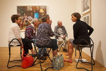 Visitors with memory loss and their caregivers experience art with a free tour.