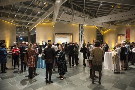 Special guests and Nasher Museum members at the Sustainer level and up gather in the Great Hall for an exclusive celebration of Solidary & Solitary: The Joyner/Giuffrida Collection. Photo by J Caldwell.