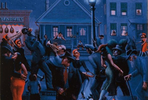 "Archibald J. Motley Jr., ""Gettin' Religion,"" 1948. Oil on canvas.Credit Whitney Museum of American Art, purchase, Josephine N. Hopper Bequest, by exchange."