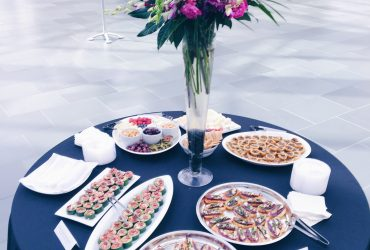 Nasher Cafe catering hors d'oeuvres display