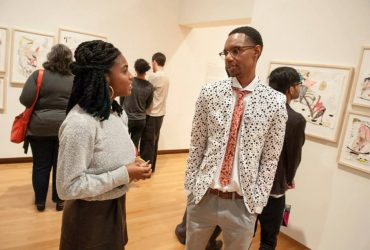 Nasher Museum employee Chanelle Croxton and Area 919 artist Lavar Munroe