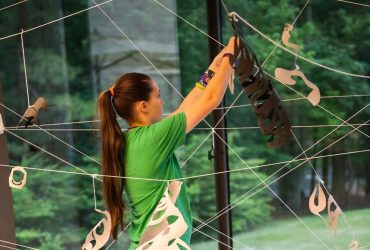 Inspired by Artist Erin Oliver, Nasher Teens create a site-specific installation