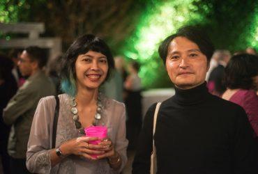 P.4 artists Tita Salina and Taiyo Kimura at the P.4 Swamp Galaxy Gala. Photo by J Caldwell.