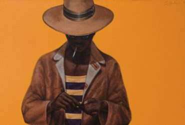 Barkley L. Hendricks, Down Home Taste, 1971. Oil and acrylic on linen; 48 x 48 inches (121.92 x 121.92 cm). Courtesy of the Office of the Dean of Students, Cornell University, Ithaca, New York. Gift of Michael Straight to the Willard Straight Hall Collection. Image courtesy of the artist and Jack Shainman Gallery, New York, New York. © Barkley Hendricks.