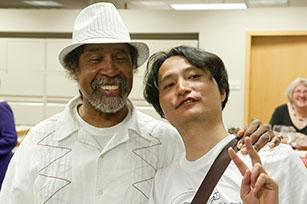 Barkley L. Hendricks (left) and Taiyo Kimura. Photo by J Caldwell.