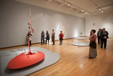 Visitors peruse the galleries. Photo by J Caldwell.