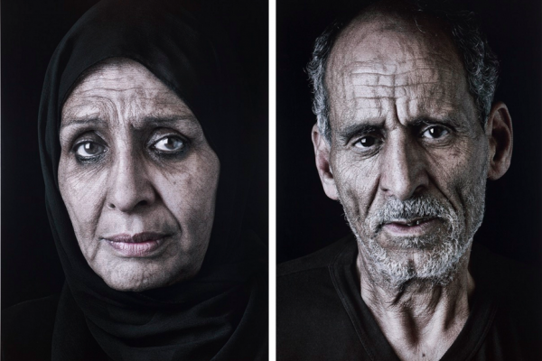 From left: Shirin Neshat, Ghada, 2013, Digital pigment print, 26 x 17.5 inches, Edition of 50. © Shirin Neshat. Image courtesy Gladstone Gallery. Shirin Neshat, Sayed, 2013, Digital pigment print, 26 x 17.5 inches, Edition of 50. © Shirin Neshat. Image courtesy Gladstone Gallery.