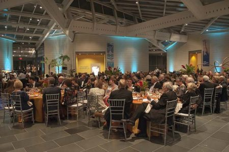 "Guests enjoy the Nasher Museum's annual benefit gala, ""A Night at Doris Duke's Shangri La."" Photo by J Caldwell."