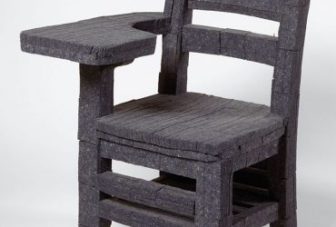 Gary Simmons, Erasure Chair, 1992. Felt and wood, 34 x 22.5 x 18 inches. Collection of the Nasher Museum. Gift of Blake Byrne, T'57, in honor of Raymond D. Nasher. © Gary Simmons. Photo: Peter Paul Geoffrion.