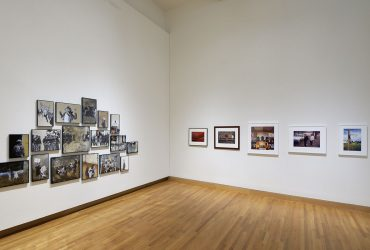 Installation view of (left) Ain't Gonna Let Nobody Turn Us Around by Hank Willis Thomas. Part of Southern Accent: Seeking the American South in Contemporary Art and also part of the Nasher Museum's collection. Photo by Peter Paul Geoffrion.