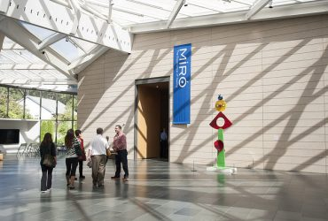 Visitors are about to enter the galleries of Miró: The Experience of Seeing. Photo by J Caldwell.