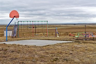 Bill Bamberger, School playground, Shawnee, Wyoming