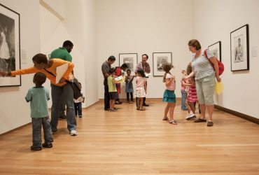Visitors explore the gallery during a Free Family Day event. Photo by J Caldwell.