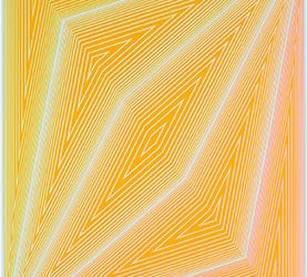Abstract lines in yellows and oranges.