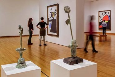 Visitors peruse the galleries of Miró: The Experience of Seeing. Photo by J Caldwell.