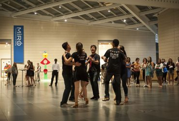 Duke students gather in the Great Hall during an event to complement Miro: The Experience of Seeing. Photo by J Caldwell.