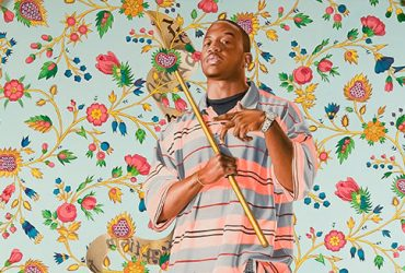 Kehinde Wiley's larger-than-life paintings incorporate a range of art historical and urban vernacular styles, positioning young African American men dressed in today's casual fashions in the same poses as figures in old master paintings. The pose of the man here is taken directly from the c. 1617 painting St. John the Baptist by the Flemish artist Jacob Jordaens. Placing his subjects in powerful yet often sensual poses, Wiley transforms expectations of masculinity, sexuality and black identity in his work.