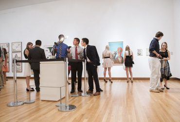 Duke students visit the galleries. Photo by J Caldwell.
