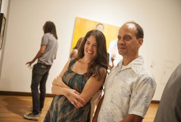 Durham artist Rachel Goodwin spends time in a gallery with her partner Ben Riseling. Photo by J Caldwell.