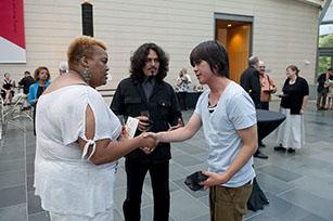 Artists Stacy Lynn Waddell, William Cordova and Lyota Yagi. Photo by J Caldwell.