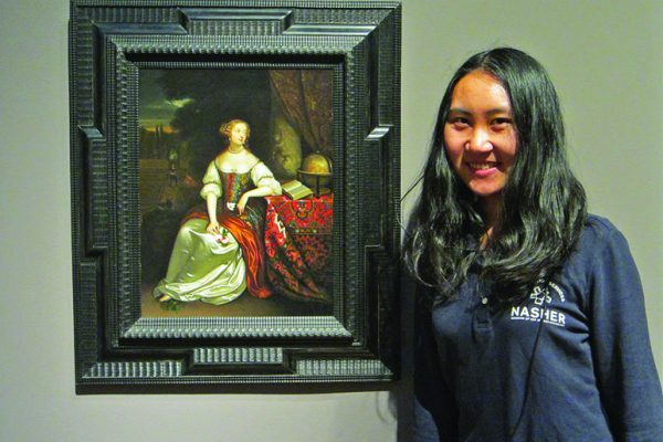 Yijun Qian, who graduated in December 2016 with a master's degree in engineering management, chose Allegorical Portrait of a Lady (after Caspar Netscher), attributed to Pieter Cornelisz van Slingeland, as one of her favorite works of art at the Nasher. The museum could not open without the student guards who assist with museum security.