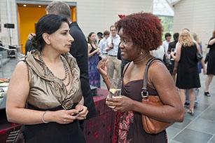 Artist Fatimah Tuggar (right). Photo by J Caldwell.