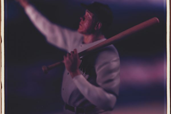 David Levinthal, Untitled (Babe Ruth) from the series Baseball, 2004. Polaroid Polacolor ER Land Film, edition 2/5, 24 × 20 inches (61 × 50.8 cm). Collection of the Nasher Museum. Anonymous gift. © David Levinthal.