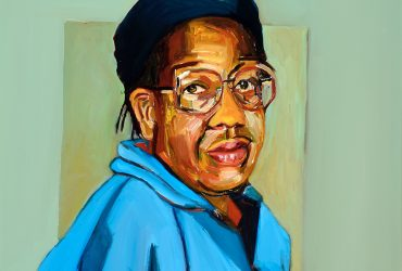 This is a portrait of the artist's late mother, Ethel McIver, who was a domestic worker in Greensboro, North Carolina before and during the civil rights movement. Based on a photograph the artist looked at daily, Ethel McIver's sympathetic eyes shown behind glasses connect not only with the viewer but also with her daughter, the painter. Simple in composition, the virtually blank background allows the artist's mother to become the sole focus of the painting, with no distractions to pull the viewer's eyes away from the sitter and no visual clues as to what she is thinking. Often dealing with themes such as class, race, and gender, McIver's portraiture also addresses the emotional complexities inherent in relationships with family, friends, and the self. Although Ethel McIver passed away in 2004, she continues to be a central focus in many of her daughter's paintings.