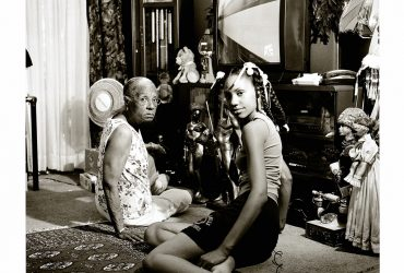 LaToya Ruby Frazier, Grandma Ruby and me, 2005 (printed 2013). Gelatin silver print mounted on museum board, edition AP 1/2, 20 × 24 inches (50.8 × 61 cm). Collection of the Nasher Museum of Art. Museum purchase with funds provided by Marjorie (P'16, P'19, P'19) and Michael Levine (B.S.'84, P'16, P'19, P'19), 2013.6.2. © LaToya Ruby Frazier. Courtesy of the artist and Michel Rein, Paris, France / Brussels, Belgium.