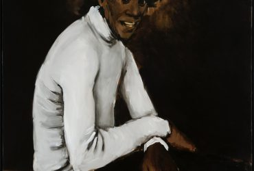"Lynette Yiadom-Boakye is a British painter of Ghanaian descent whose trademark style of portraiture is shaped by European master painters like Édouard Manet (1832 – 1883) and Francisco Goya (1746 – 1828), but with a special focus on black subjects. Her figures are not portraits of real people, but products of her imagination that have an otherworldly quality. Like a fiction writer, she creates characters with complex personalities, but unlike an author she does not place them in a specific time or setting. They are frequently painted in nondescript clothing, in a dark palette on a monochromatic background. The artist describes her style as ""one-shot painting,"" meaning that she tries to start and finish each work on the same day."