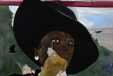 A woman in a hat wipes away a tear. Icecream seems to have fallen on her shoulder. This work is both tender and disturbing. Like much of Davis's work, this painting is a quiet reflection on the banality and sadness of daily life and is also underscored by a sense of light-heartedness and introspection.