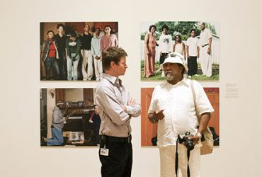 Trevor Schoonmaker with Barkley L. Hendricks in 2011. Photo by J Caldwell.