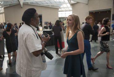 Barkley L. Hendricks with Emma Livingston. Photo by J Caldwell.