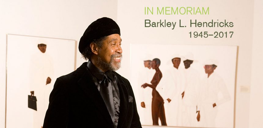 Photo of Barkley L. Hendricks by Duke Photography.