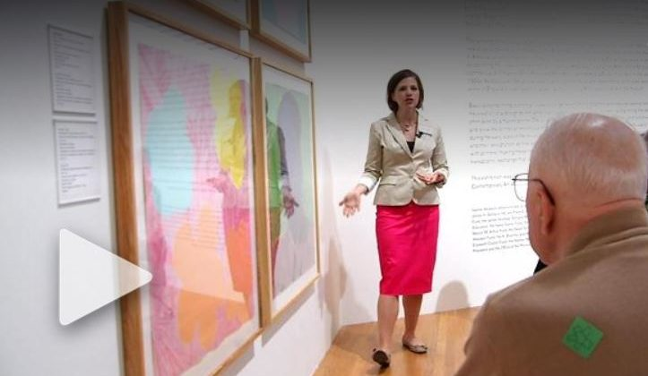 Jessica Ruhle leads a Reflections tour, featured on a segment of CBS North Carolina.