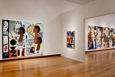 Installation view of Nina Chanel Abney: Royal Flush. Photo by Peter Paul Geoffrion.