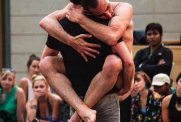 Israeli choreographers Niv Sheinfeld & Oren Laor perform Two Room Apartment. Photos by J Caldwell.