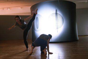 ADF faculty member Gwen Welliver, a New York dancer and choreographer, brings her composition lab students to explore Olafur Eliasson's The uncertain museum in three informal showings for the public. Photo by J Caldwell.