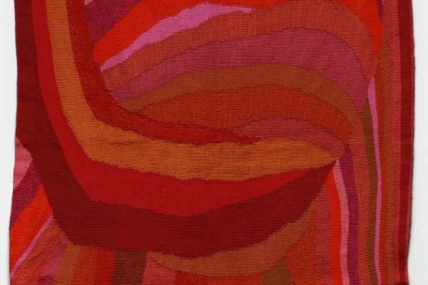 Silvia Heyden, Omega (detail), 1972. Wool and linen, 68 1/2 × 49 inches (174 × 124.5 cm). Collection of the Nasher Museum of Art at Duke University. Museum purchase, 1972.32.1. © Estate of Silvia Heyden. Photo by Peter Paul Geoffrion.