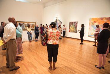 Visitors listen in attentively to Duke professor Thavolia Glymph