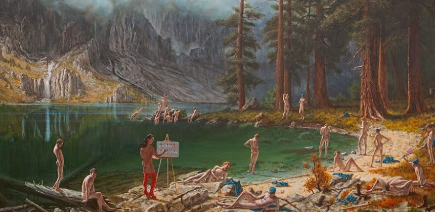Kent Monkman, History is Painted by the Victors, 2013. Acrylic on canvas, 72 x 113 inches (182.88 x 287.02 cm). Collection of the Denver Art Museum, Colorado. Gift of Vicki and Kent Logan, 2016.288. © Kent Monkman. Image courtesy of the Denver Art Museum, Colorado.