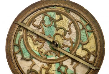 Danfrie, Johan Moreau and Philippe, Astrolabe: Western Paris, France, 1584 – 1622. Wood, paper, brass W-98a. Courtesy of Adler Planetarium, Chicago, Illinois.